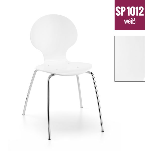 Holzschalenstuhl SP 1012 weiß